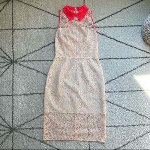 W118 by Walter Baker White Lace Dress, Size S